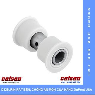 Bánh xe cao su càng bánh xe đẩy inox | 2-4456-444 sử dụng ổ nhựa Delrin