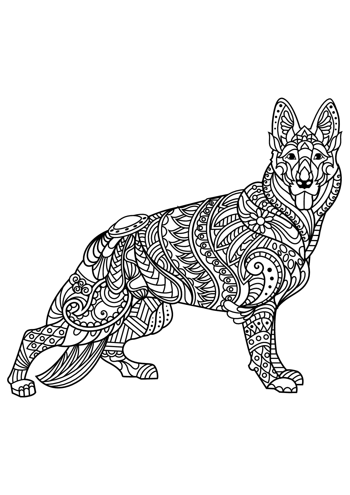 Dogs coloring pages 87