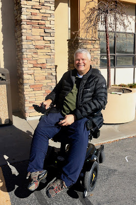 portrait of Steven in his wheelchair
