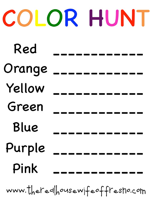 Color Scavenger Hunt-Summer Activities & Toys