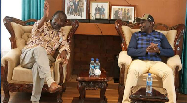 Malava MP Moses Injendi and DP William Ruto photo