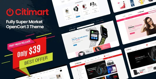 Best Fully Supermarket OpenCart Theme