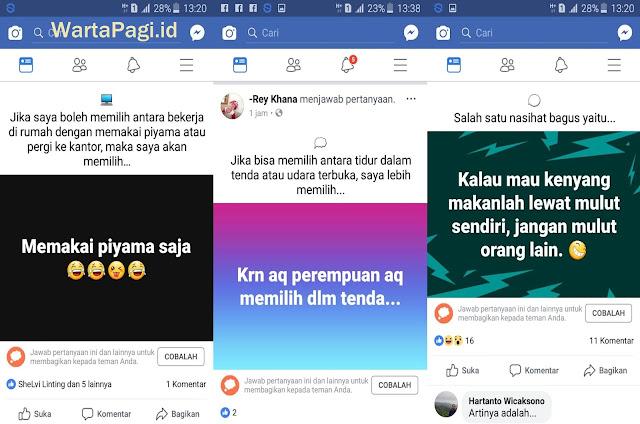 Cara buat status Tanya Jawab di Facebook dengan mudah
