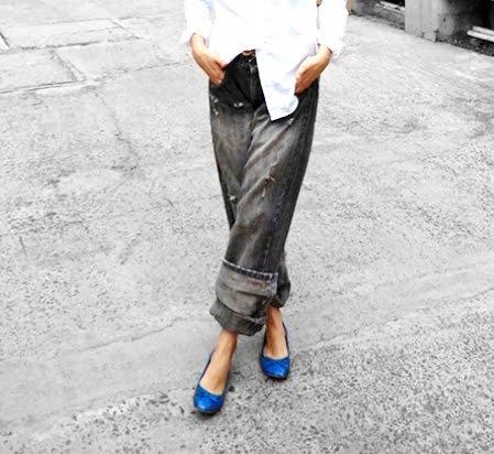 wide leg jeans,mango blue bow ballerina