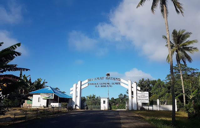 Selamat datang di tahura Gunung Tumpa H.V Worang ©JelajahSuwanto