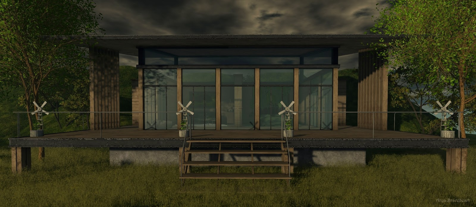 Cabin in the Woods Outside