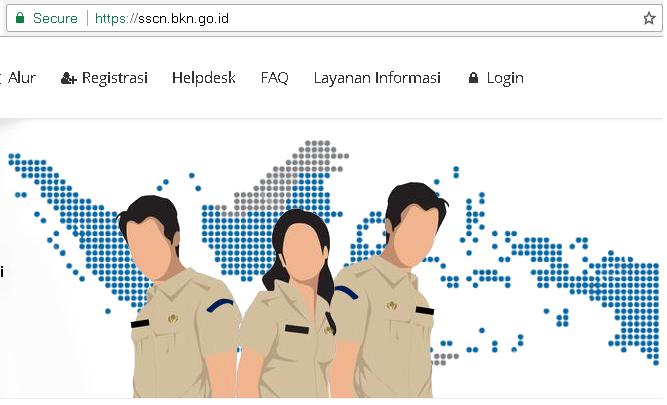 Jumlah Pelamar CPNS Terdaftar di SSCN.BKN.GO.ID