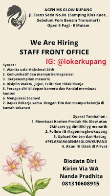 Lowongan Kerja MS Glow Kupang Sebagai Staff Front Office