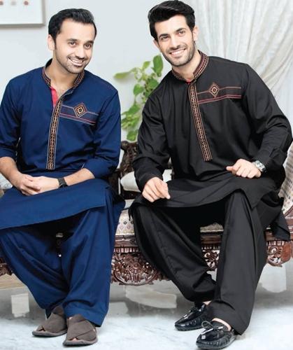 Rivaj Fabrics Semi Stitched Mens Kurta Shalwar Collection for Eid 2016
