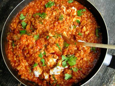Barley, Tomato and Garlic Risotto
