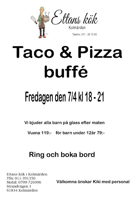 Taco och Pizza buffé på Ettan 2017