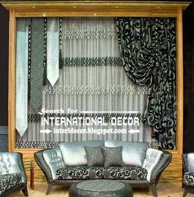 Best Contemporary Curtain Designs 2016 Curtain Ideas Styles, Black And  Silver Curtains