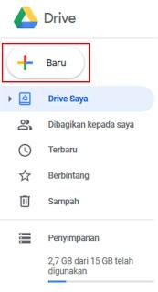 Menu Google Drive