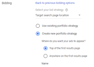 Target Search Page Location