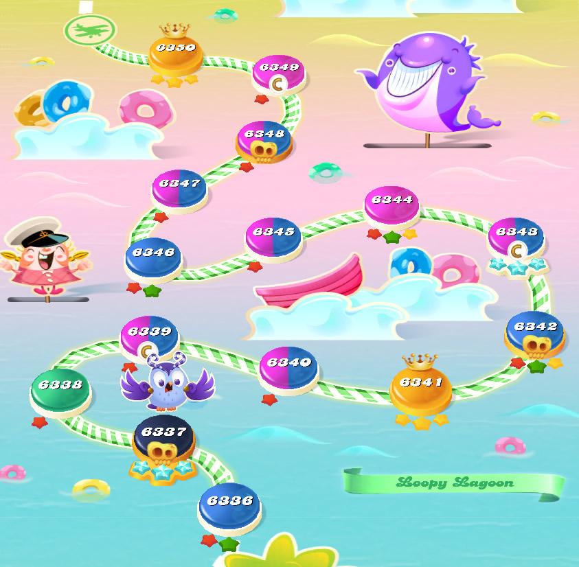 Candy Crush Saga level 6336-6350