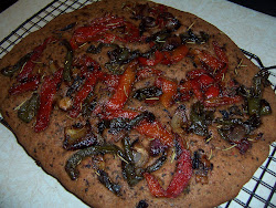 Vegan Vegetable Wholewheat Focaccia