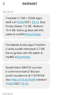 Cek Kuota Indosat Melalui SMS