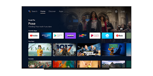 The 'Discover' homescreen for Android TV is now available on Sony Bravia TVs
