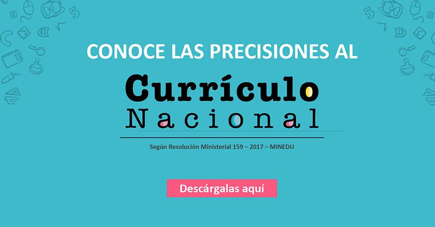 Precisiones al Currículo Nacional