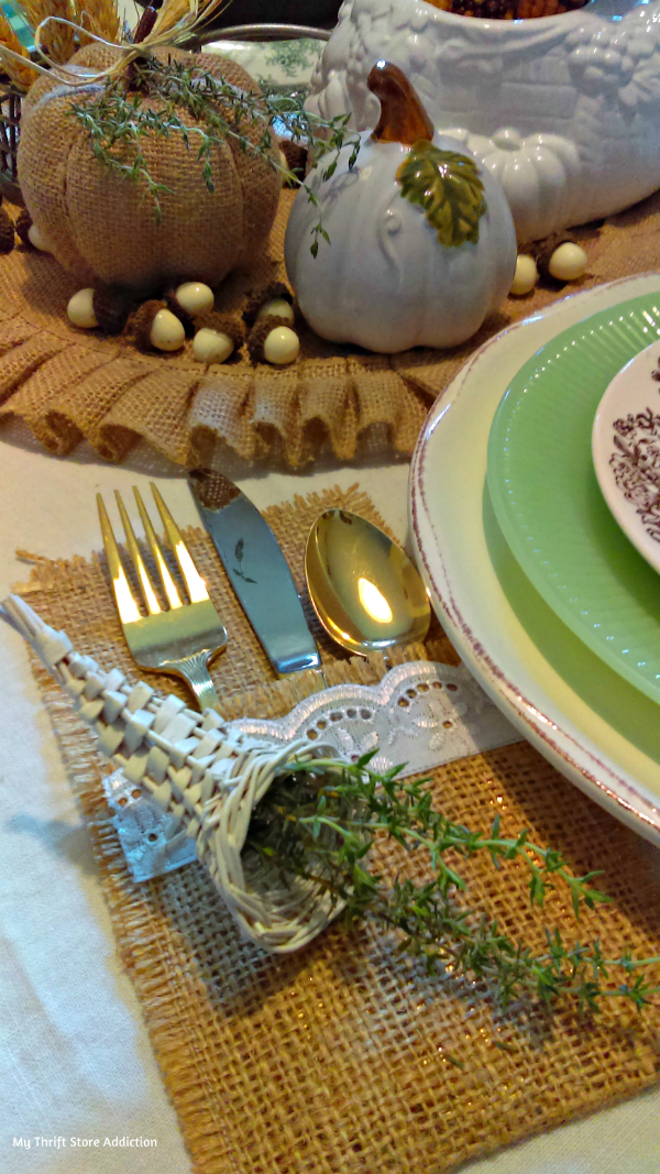 Thyme to be grateful tablescape