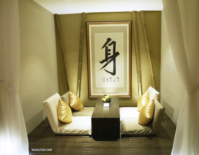 Zen concept with lemon-grass aroma therapy fills the guest house and every floor of the building.