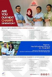 Lowongan kerja terbaru SMA SMK D3 S1 PT Semen Indonesia