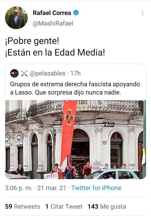 Rafael Correa debochou dos jovens e foi o grande derrotado