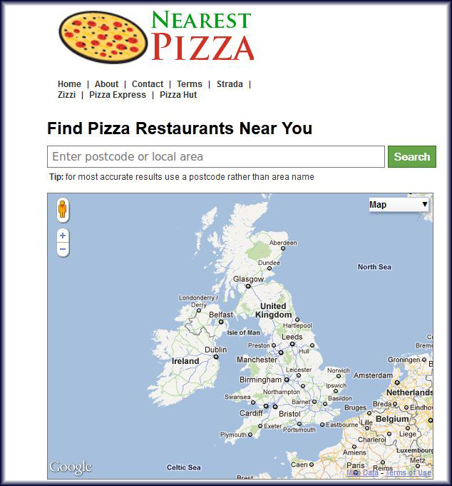 Find Your Nearest Pizza Restaurant