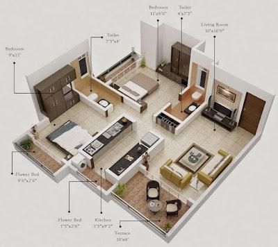 Gambar Desain Interior Rumah Tipe 36 Luas Lahan 60 Modern