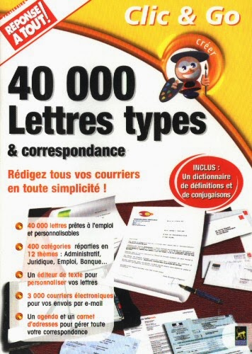 logiciel   40 000 lettres types et correspondance