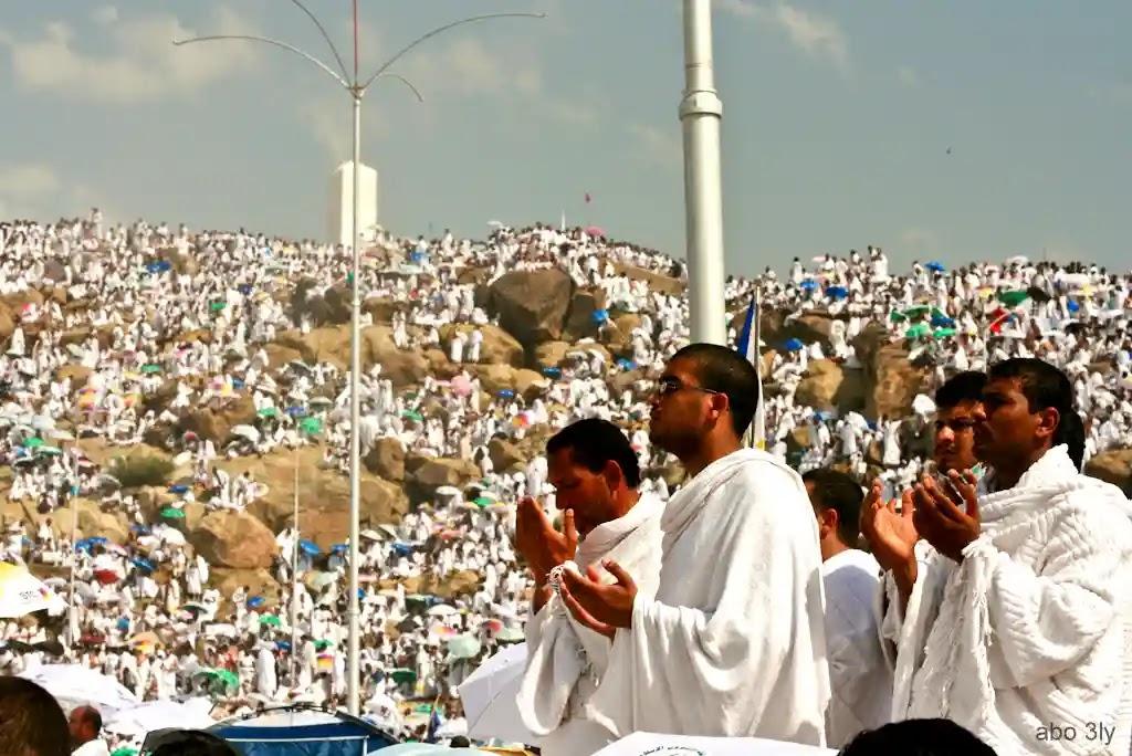 تجمع المسلمين على جبل عرفات