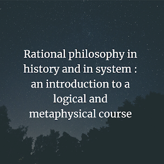 Rational philosophy in history