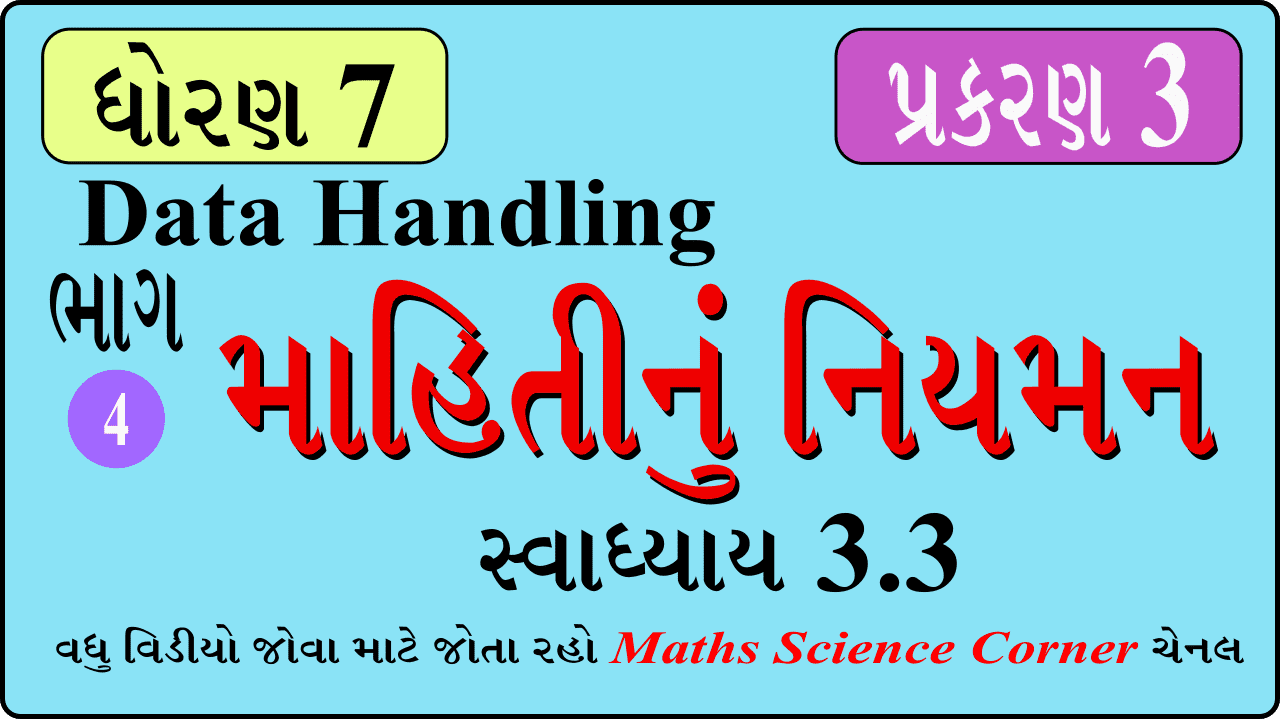 Maths Std 7 Ch 3 Exercise 3.3 Video