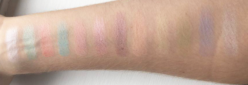 Shadow swatches Sleek