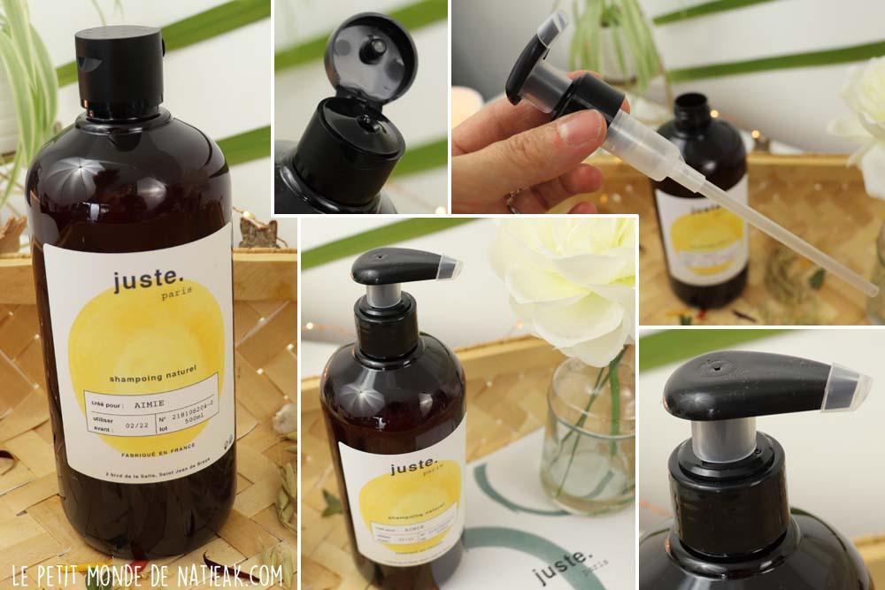 shampoing naturel personnalisé Juste Paris
