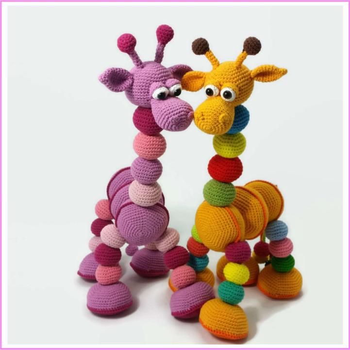 żyrafa szydełkiem - tutorial