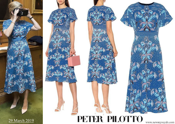 The Countess of Wessex wore a Peter Pilotto floral print dress