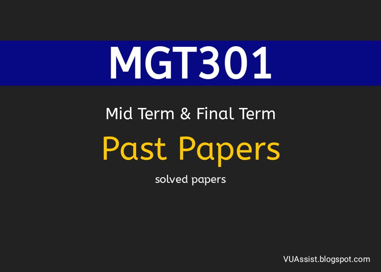 mgt402 final term paper 2015