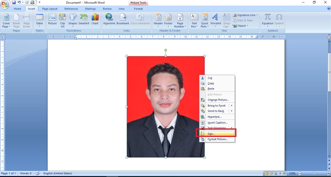 Cara Membuat Ukuran Pas Photo 4x6 3x4 Dan 2x3 Di Ms Word Untuk Dicetak Ato Menulis