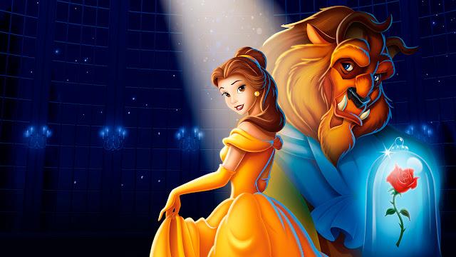Imagen de la película de Disney de animación La bella y la bestia