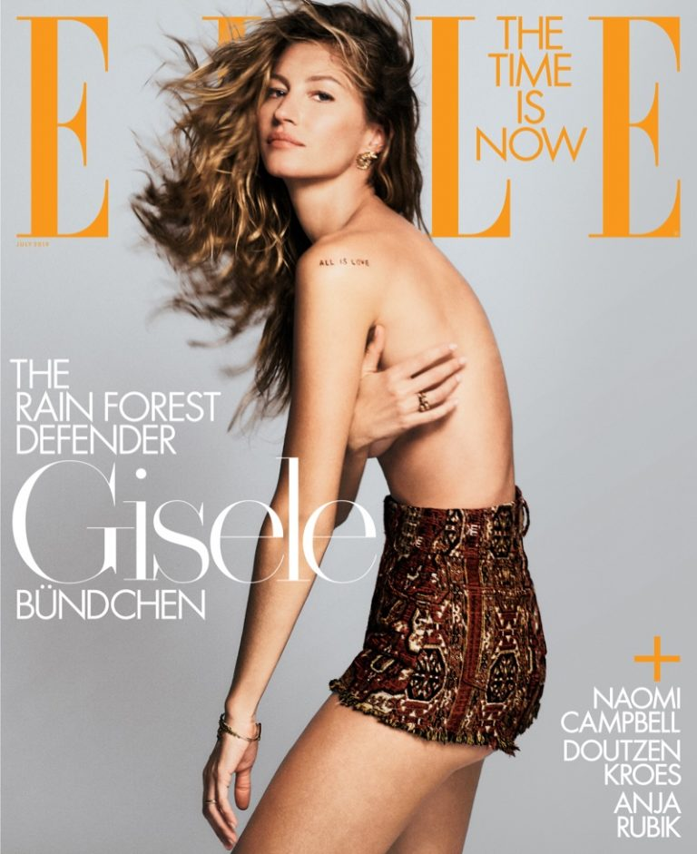 Gisele Bundchen on ELLE US July 2019 Cover