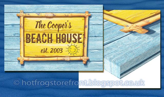 Photograph of canvas print Driftwood Beach design