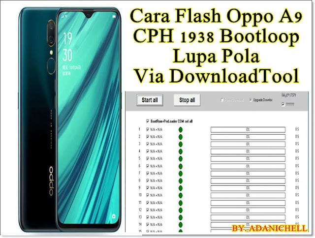 Cara Flash Oppo A9 CPH 1938 Bootloop Lupa Pola Via DownloadTool