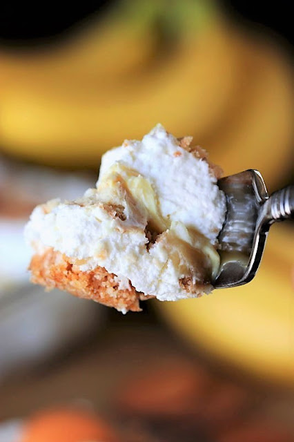 Bite of No-Bake Banana Pudding Yum Yum Image