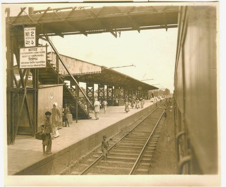 A Railway Station Near Calcutta (Kolkata) (Probably Ranaghat Station)  - c1940's