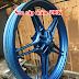 Sơn bánh mâm xe máy Exciter 150 màu xanh nhám cực đẹp