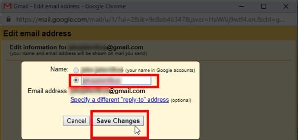 cara mengganti nama email gmail di pc