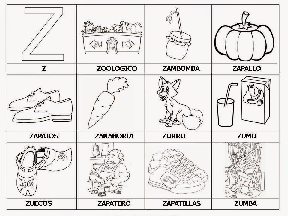 50 Palabras con Z intermedia y con Z al inicial y al final para ...