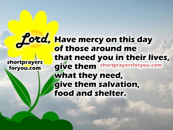 Morning short prayer with christian image by Mery Bracho.