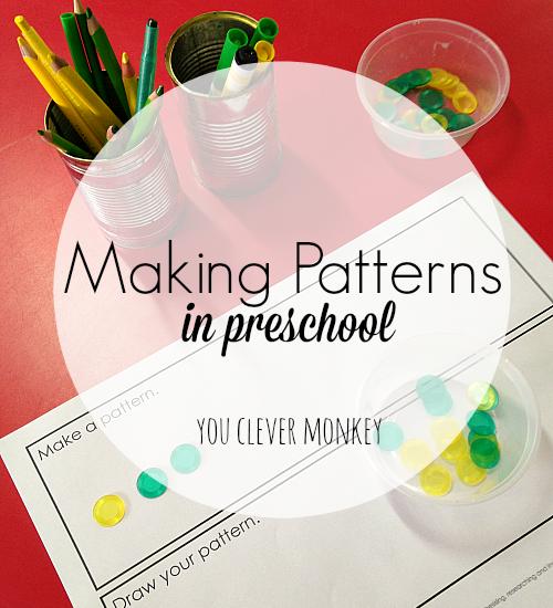 making patterns in preschool you clever monkey. Black Bedroom Furniture Sets. Home Design Ideas
